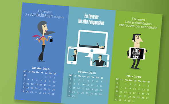 calendrier illustré